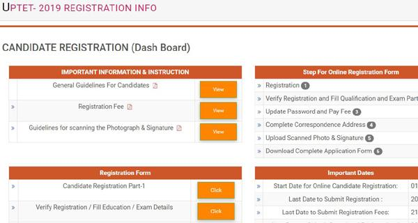 UPTET 2019 Application Form Notification Exam Date Syllabus